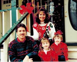 Our family the Christmas before I was diagnosed